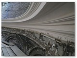 01 Late April 2013 - the cornice partially completed in the semi-circular apse