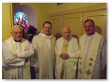 02 Fr Kit O'Connor, Fr Brendan and Fr Tom with Fr Jimmy before the Jubilee Mass