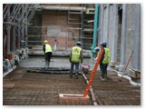 02 Pouring of the concrete sub-floor on east aisle  progresses smoothly in the days before Easter 2013