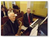 04 Musicians Michael Hughes and Frank Meally