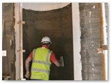 06 A more recent photo with the alcove being plastered