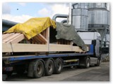 12 Friday 17th May 2013 sees the lorry loaded to bring the trusses to the Cathedral on the following Monday morning