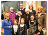 14 Margaret and Jimmy McLoughlin who celebrate 50 years of marriage with family members and Bishop Colm