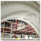 21 Repaired window arch mid-July 2011