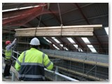 22 Then timber was moved in to construct a temporary timber roadway on which the trusses could be pushed