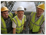 35 Cathal, Gary and Micheal Cregg can offord a big smile on the last capital of the last pillar being in place